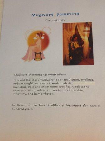 Mugwort steaming