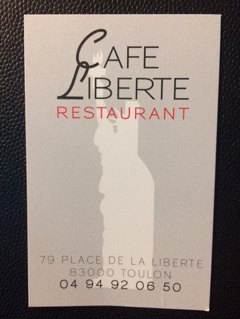 Cafe Liberte Carte De Visite