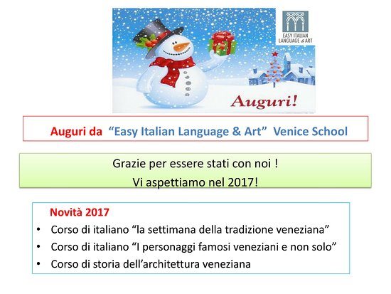 easy italian language art venice school merry christmas and happy new year