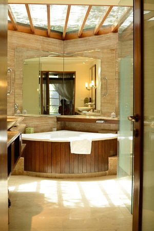 spa lighting for bathroom. Westin Sohna Resort And Spa: Bathroom With Natural Lighting Semi Open  To Nature Spa Lighting For Bathroom