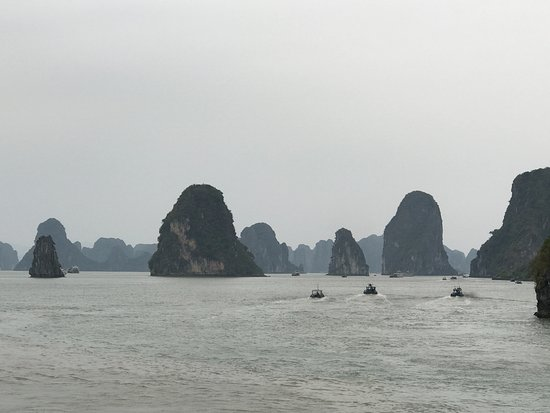 Image result for Misty day in Halong Bay