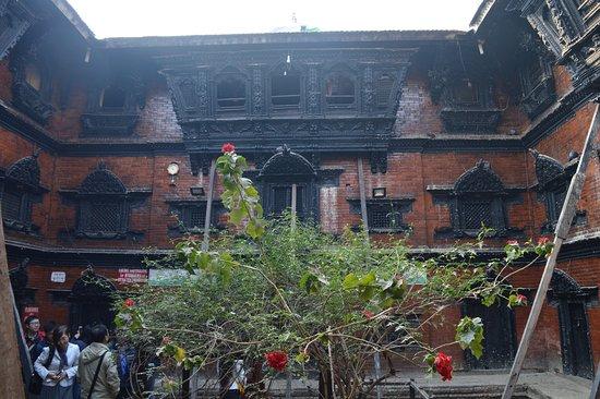 Kumari Chowk: The courtyard inside the House of Royal Kumari of Kathmandu