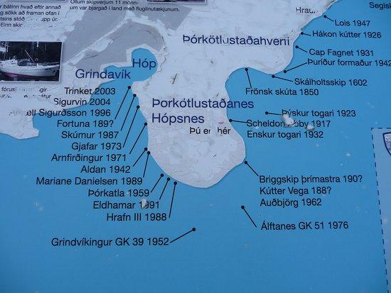 Grindavik, İzlanda: Hopsnes: location of shipwrecks