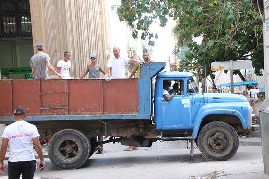 Central Havana: Vintage truck used for people transport