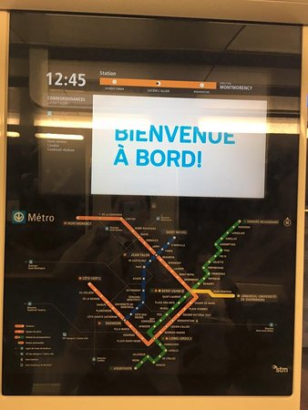 Real time map to show exact position of train on the subway line