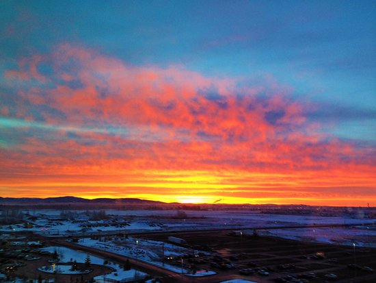 Airway Heights, WA: Sunrise from the 8th floor