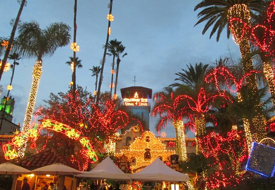 the mission inn hotel and spa christmas lights at mission inn