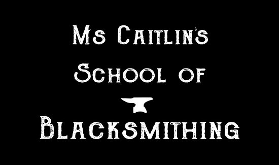 Frederick, MD: Ms Caitlin's School of Blacksmithing logo.