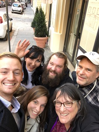 Driver in Italy : Our family with Amira in Rome at the end of our tour. She's fantastic!!