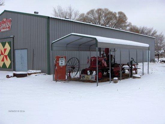 Cross Orchards Historic Site: Farmall in winter.