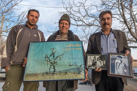 Sirjan, Iran: From left to right: Darvish Khan's grandson, son and a neighbour
