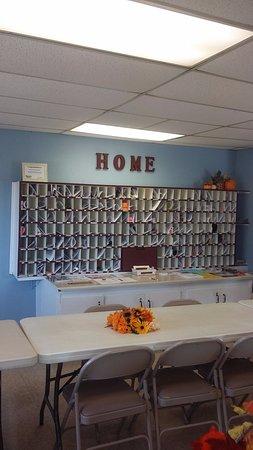 Casa Grande, AZ: Mailbox and communication area