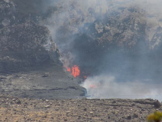 Keaau, HI: Volcano National Park - active lava flow