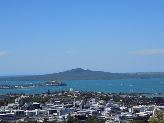 Just one of the fantastic views from the top of Mount Eden