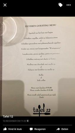 Waregem, Belgium: We behaalden zilver, dit is ons goesting menu