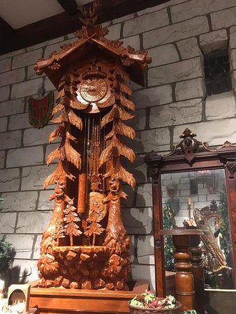 South Deerfield, MA: Bavarian Village hand carved wood clock