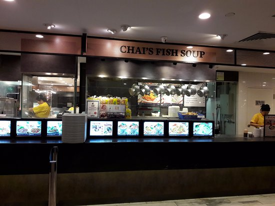 raffles city stall in the food court