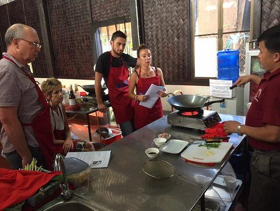 Tamnak Lao Cooking School: Teaching at Tamnak Lao in progress