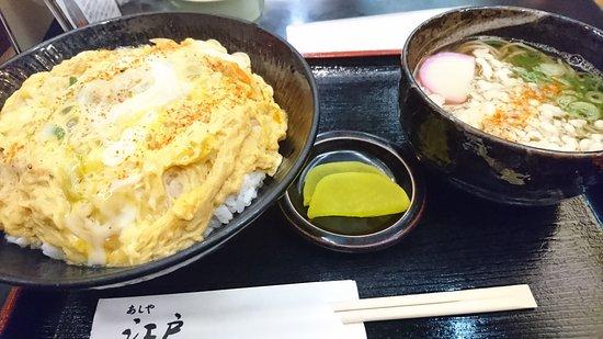 Edo Ashiyaten : 親子丼と小そばセット