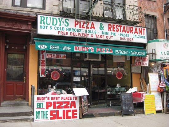 Rudy S Pizza Restaurant New York City Little Italy