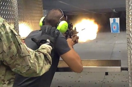 Experiência com metralhadora em...