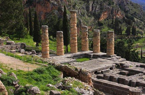 デルファイ、Arachovaと聖ルカスアテネからの修道院ツアー