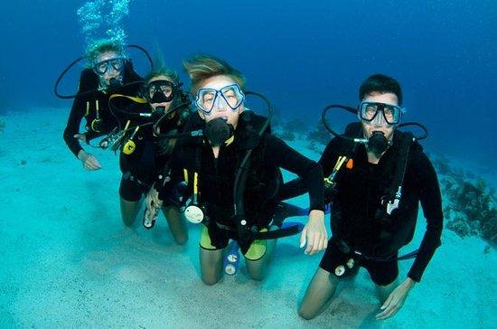Mergulho com scuba para em São Martim...
