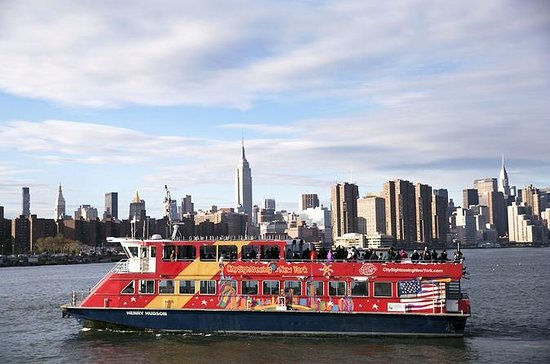 New York City Harbor Skyline and...