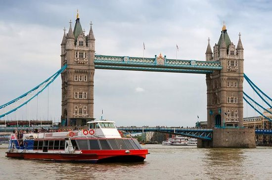 Tower of London and Thames River...