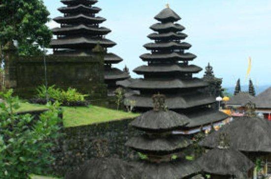 バリ島プラルフールバトゥカウ寺院と文化体験の小…
