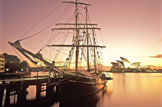 Sydney Harbour Tall Ship Twilight...