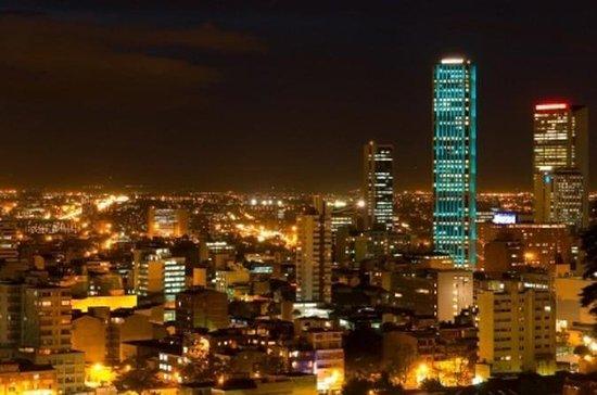 Recorrido por la ciudad de Bogotá por la noche
