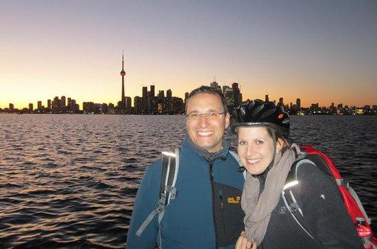Abendliche Radtour durch Torontos...
