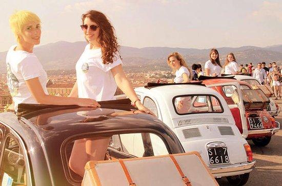 Excursión de medio día en Fiat 500 clásico desde Florencia