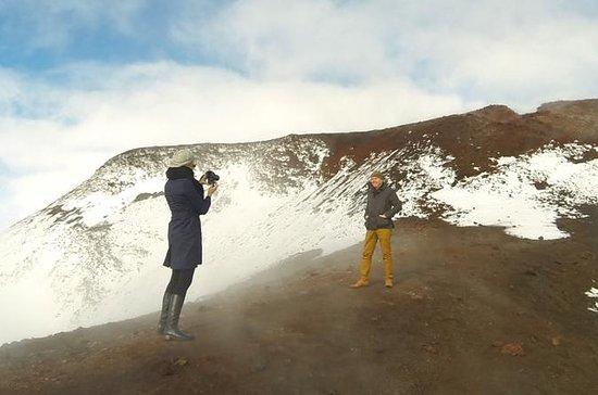 Eyjafjallajokull Glacier, Volcano Helicopter from Reykjavik