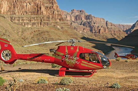 ラスベガス発グランド キャニオン ヘリコプター ツアー、シャンパン ピクニッ…