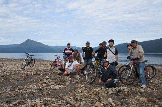 札幌発の支笏湖マウンテン バイク ツアー