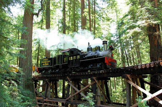 Roaring Camp Steam Train Through...