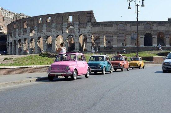 Visite de Rome en convoi de Fiat500...