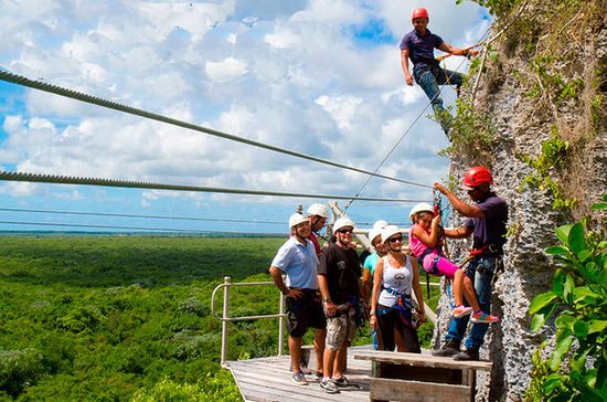 Hoyo Azul and Zipline Adventure in...