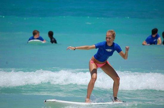 Aulas de surfe em Punta Cana