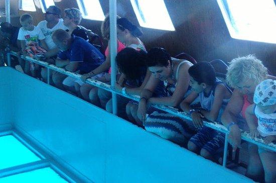 Barca con fondo trasparente da Sharm