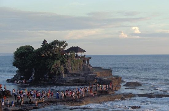 Sunset at Tanah Lot Temple and Spa