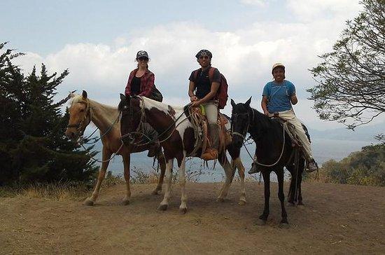 パナハチェルのアティトラン湖での乗馬