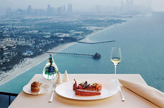 Lunch at Al Muntaha in Burj al Arab...