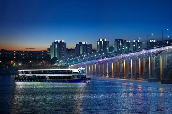 Han River Abendkreuzfahrt und Gwangjang Night Market Tour