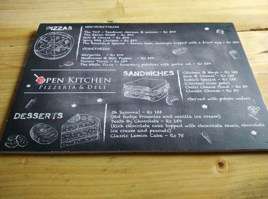 Open Kitchen: The Menu !!! . . . Indulge.