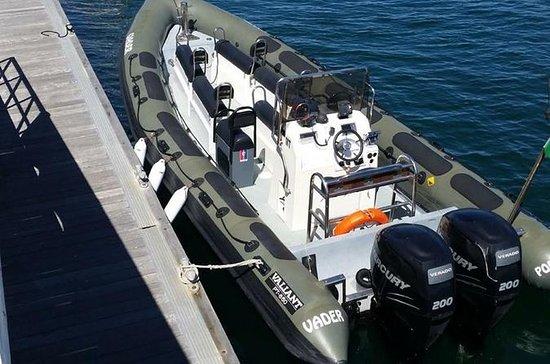 Lissabon mit dem Motorboot