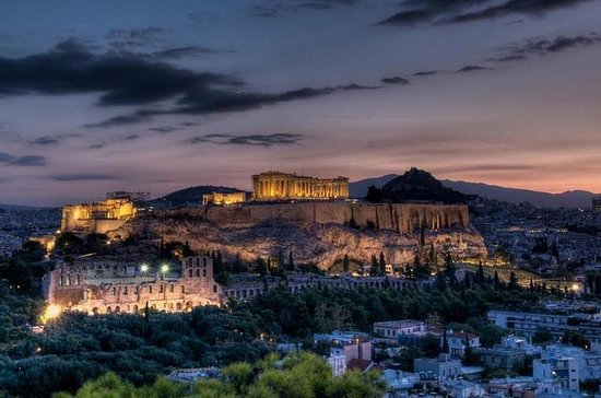 Tour serale di Atene in bici elettrica