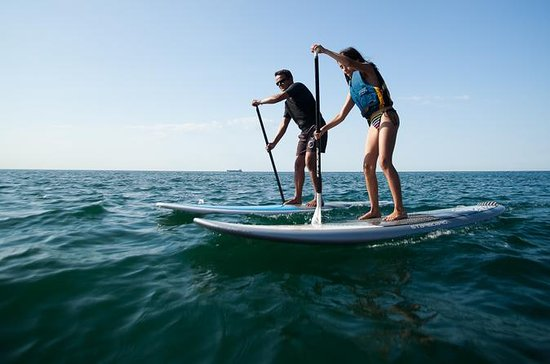 Stand-up-paddle on Laguna of Thau...